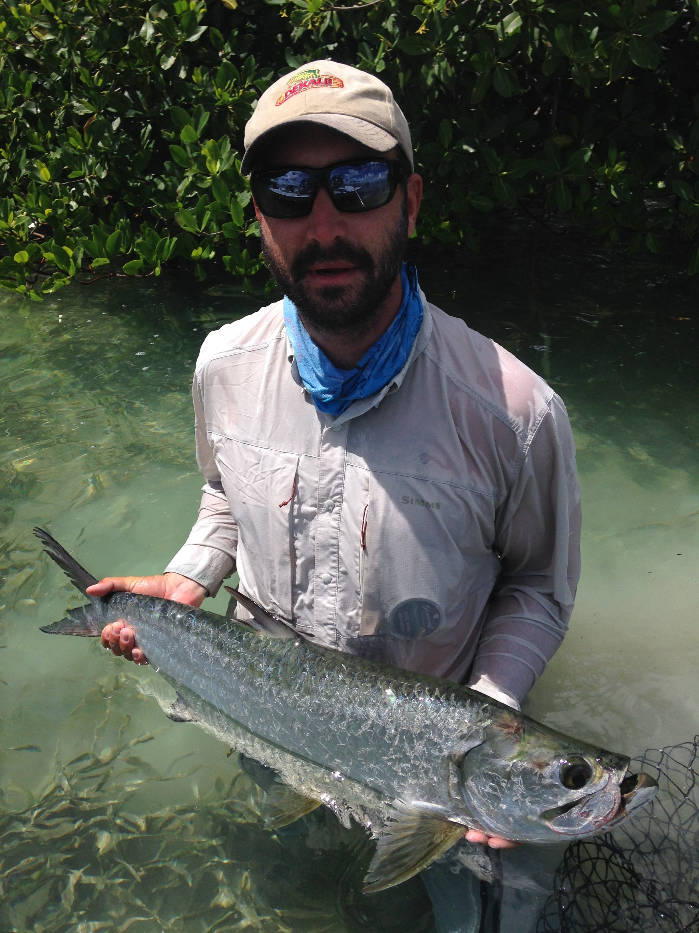 Superfly 2015: a tarpon rounded out our slam. Photo Aaron Snell, fly Dave Skok