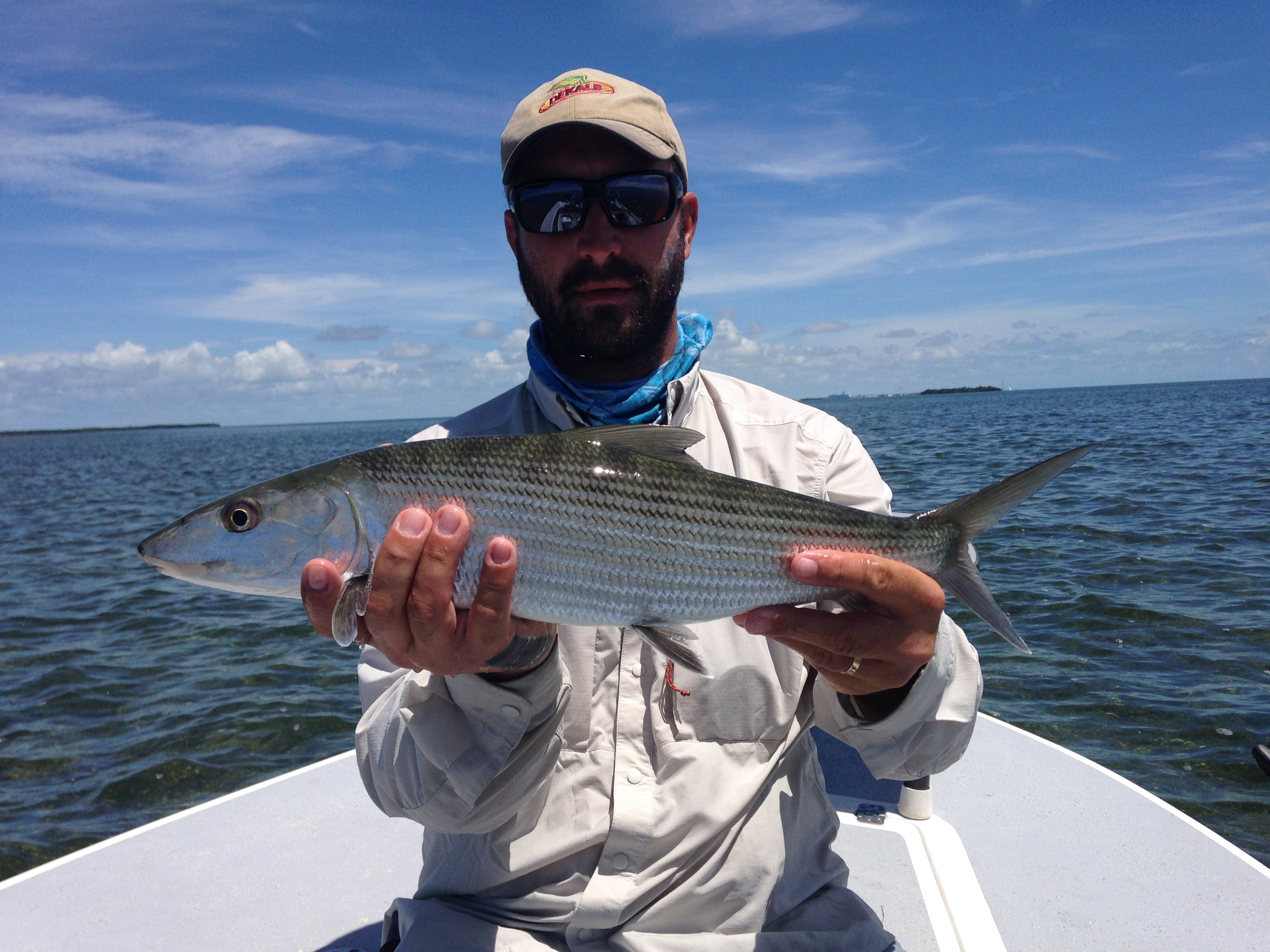 A bonefish for 2/3 of the slam, Superfly 2015. Guiding/photo Aaron Snell, fly Dave Skok