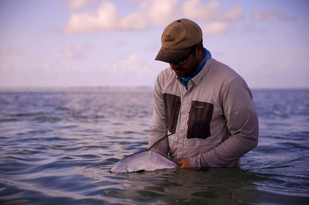 A tagged fish from the morning of 1 September. Photo Frankie Marion, guiding John O'Hearn
