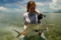 Kat and her second fish from the 2015 Del Brown. Photo/guiding Captain Drew Delashmit