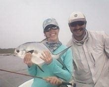 Kathryn and her permit from Belize. Eworth Garbutt photo