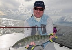 Ted Margo caught a number of nice bonefish with Doug Kilpatrick in October. This is one of the four he caught. Photo/guiding Doug Kilpatrick
