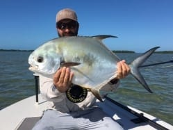 On the first of two days of fishing with Ian, one shot gave up a bite from this permit. Photo/guiding Ian Slater