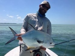 A 16 pound permit, part of our slam on three shots in April. Photo/guiding John O