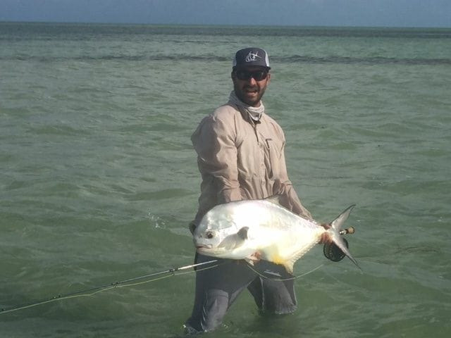 A large October permit, 25 pounds even. Photo/guiding Doug Kilpatrick
