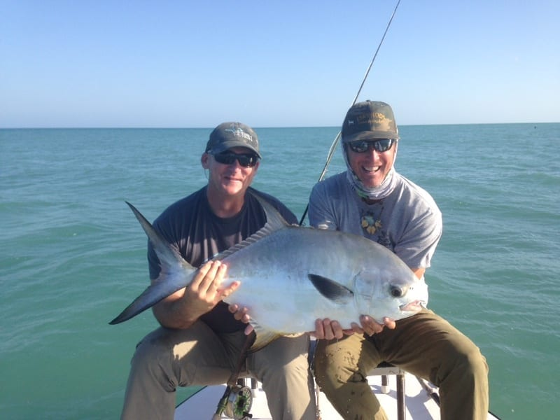 Joe Skrumbellos and John O'Hearn with a nice one. Photo Nathaniel Linville, guiding John O'Hearn