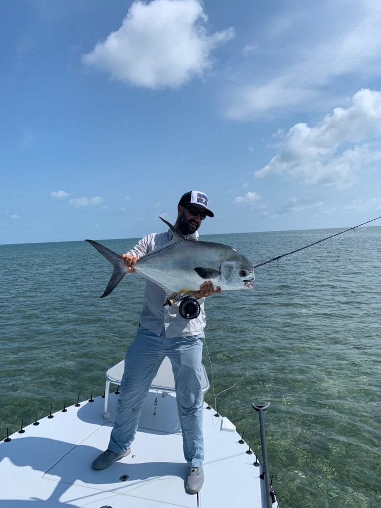 after spotting this fish as we idled in the channel, Nick poled us over for a cast to a very accommodating permit. 24 pounds of permit and photo/guiding courtesy of Nick Labadie