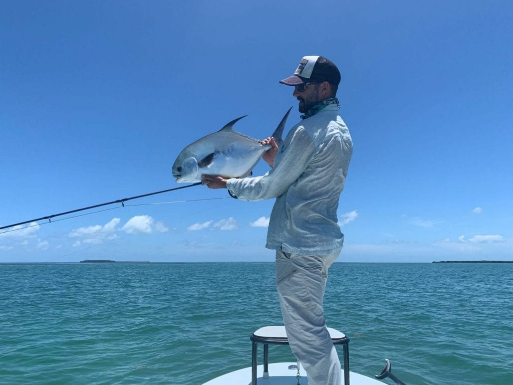 A day with Ian Slater gave up this first of a pair of permit in late June. Photo/guiding Ian Slater