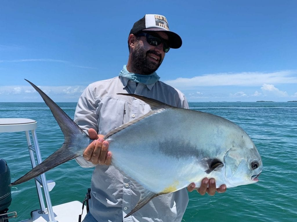 An invite from Darren Soice with Drew Dealshmit resulted in this permit, one of two for the day. Photo/guiding Drew De;lashmitPhoto