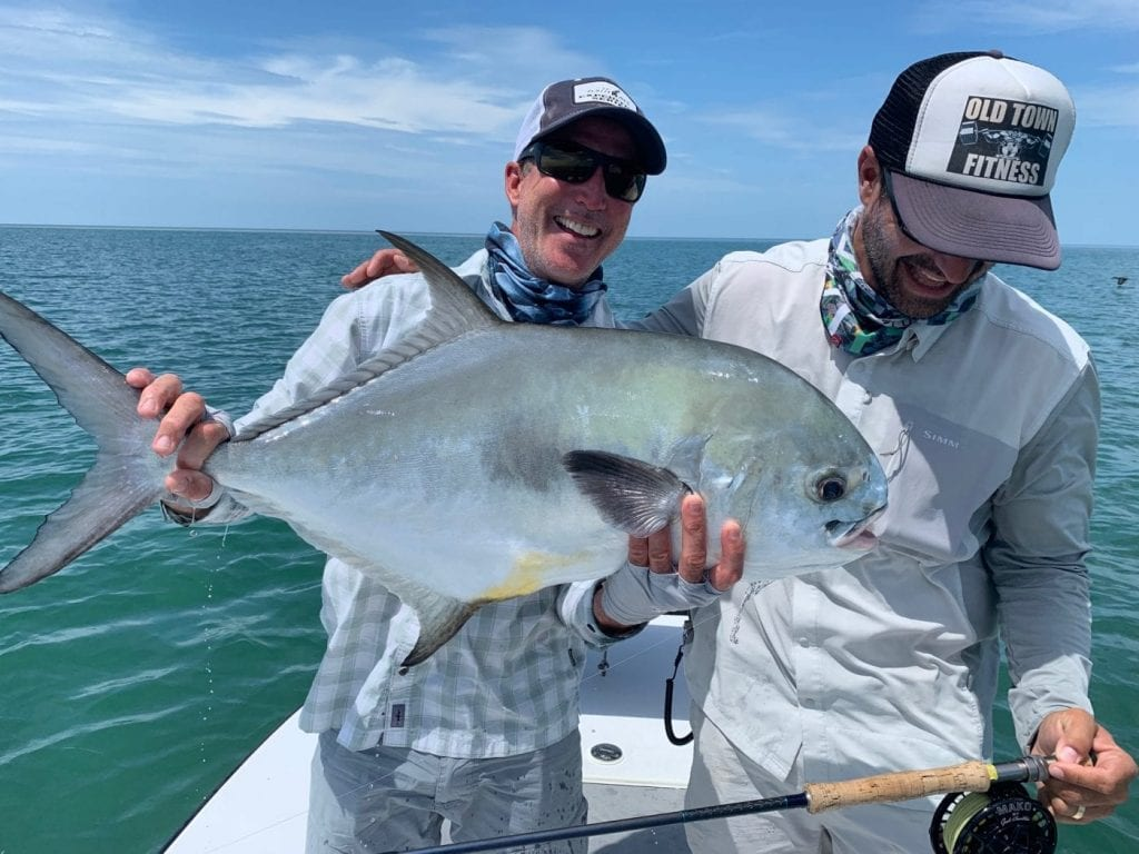 Dustin Huff joined in for a day of fun fishing, and grabbed this one for the team after losing one himself. Photo/guiding John O'Hearn.