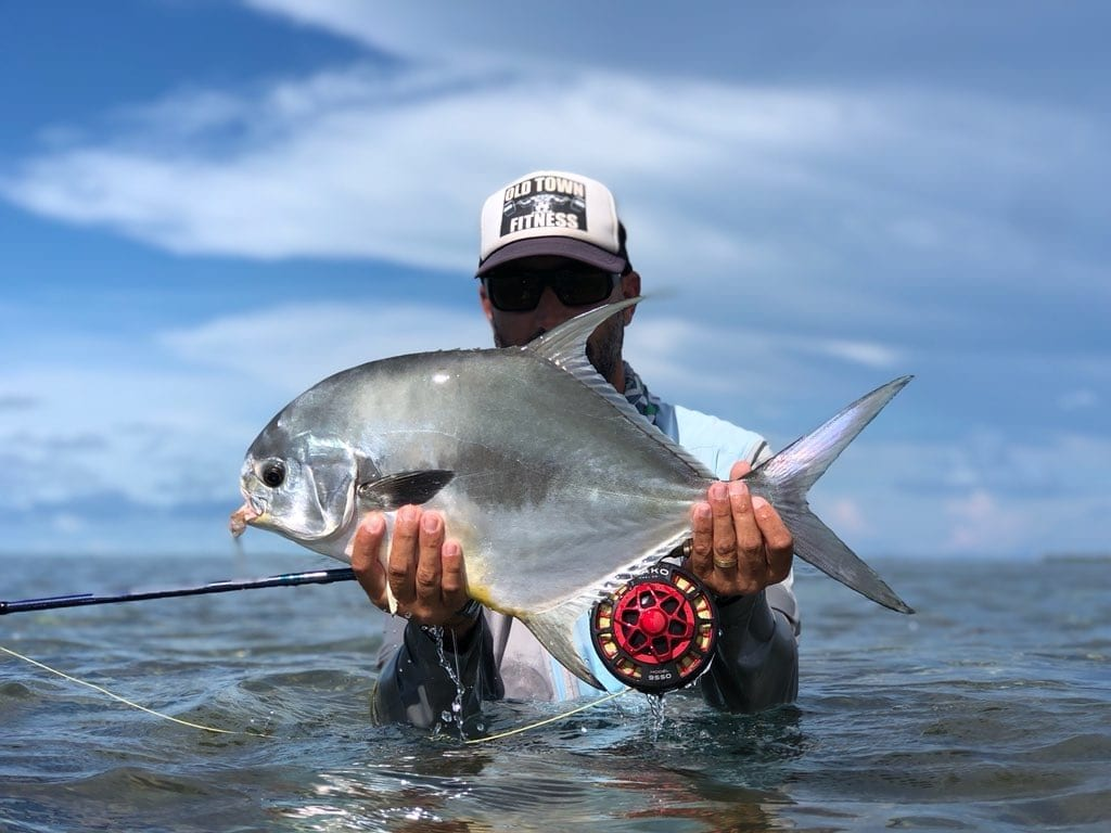 Brandon Cyr guided this smaller permit and took a great picture of it when it was in hand. Photo/guiding Brandon Cyr