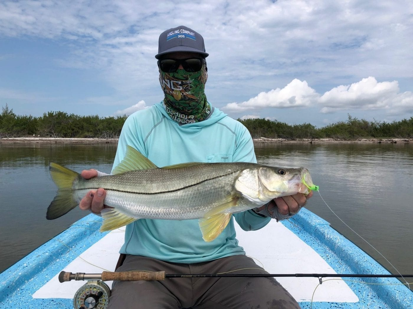 Chad with a snook in Mexico. Steve Huff photo