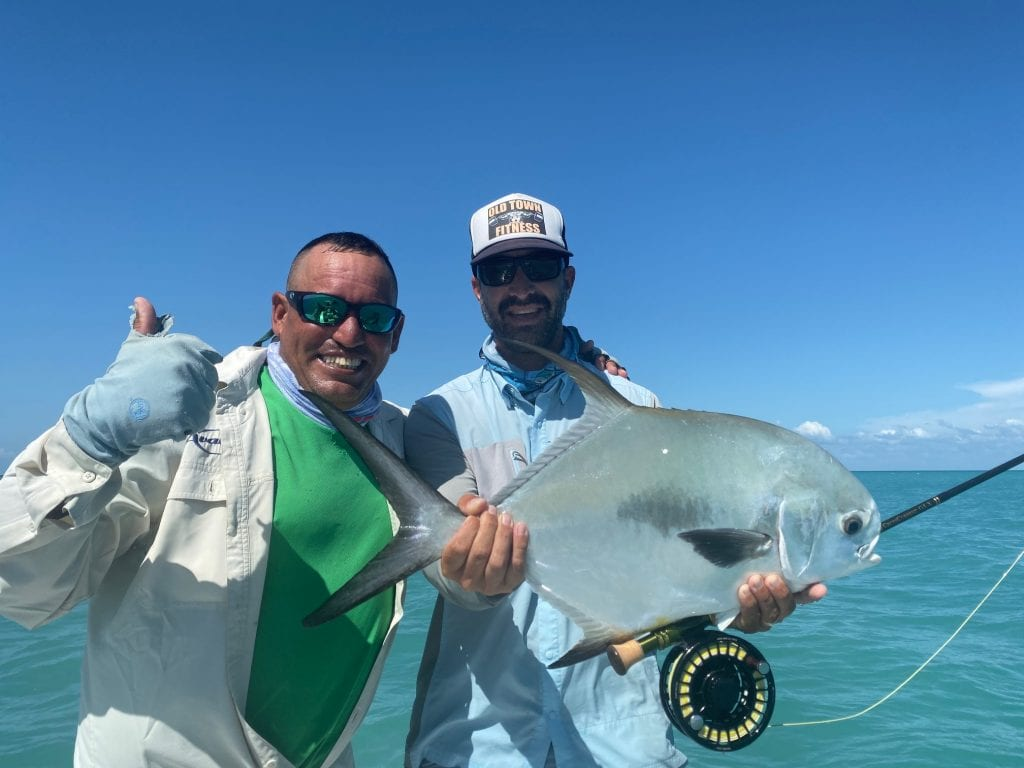 Nathaniel and Bemba with their part of a couble slam, Cuba. Thanks Bonefish Tarpon Trust for the opportunity. Photo Brandon Cyr