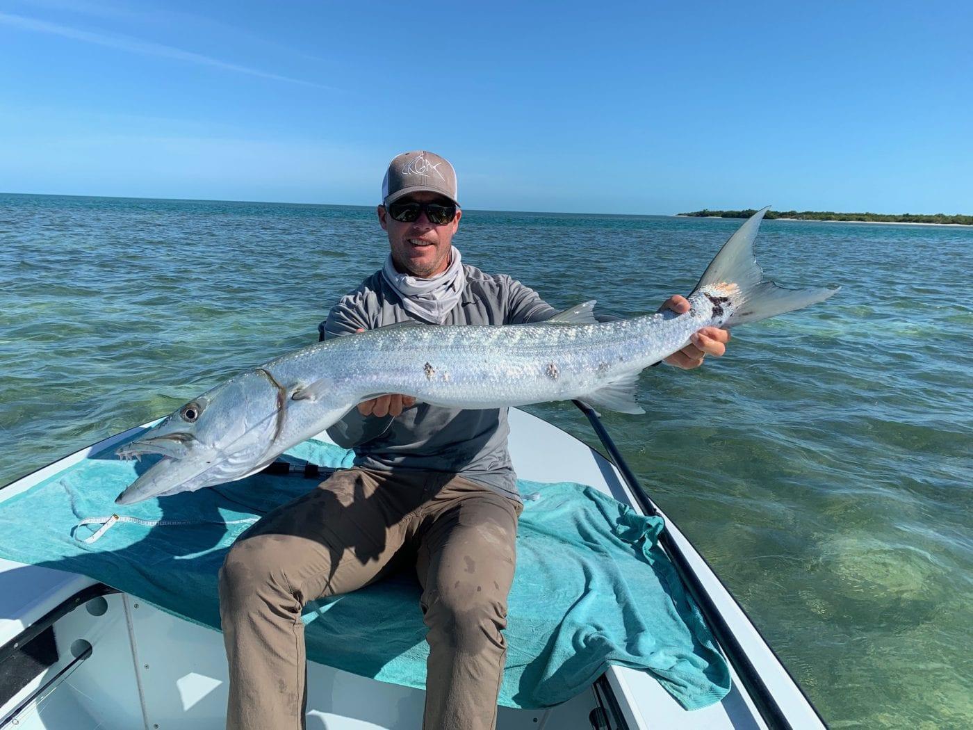 More barracuda, giants. Photo/guiding Ian Slater