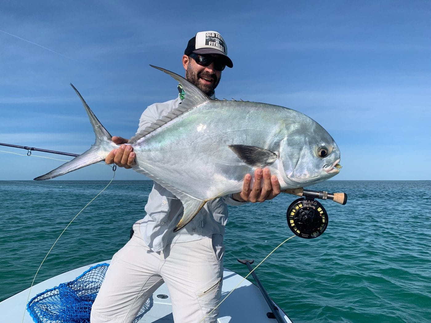 A second permit on a day that included 6 barracuda over 40 inches--fun times, and great fishing. Photo/guiding Ian Slate