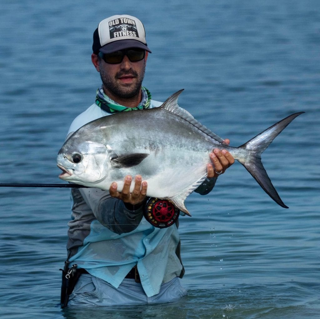 Another one caught on foot. Photo/guiding Nick Labadie