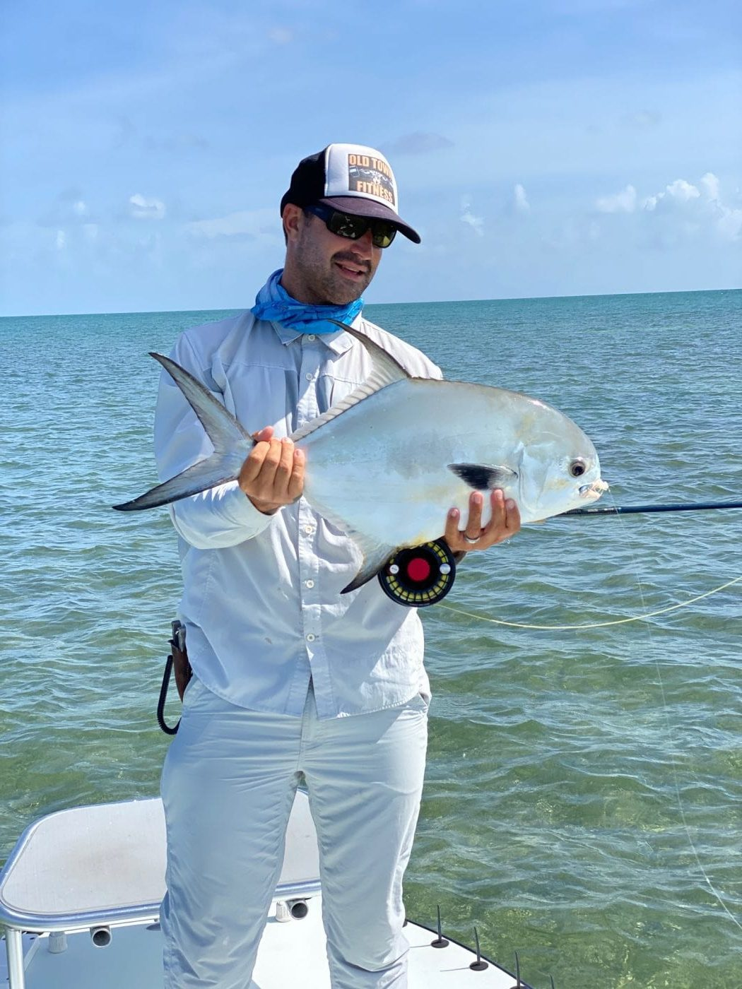 A nice permit caught with Nick Labadie in July. Photo/guiding Nick Labadie
