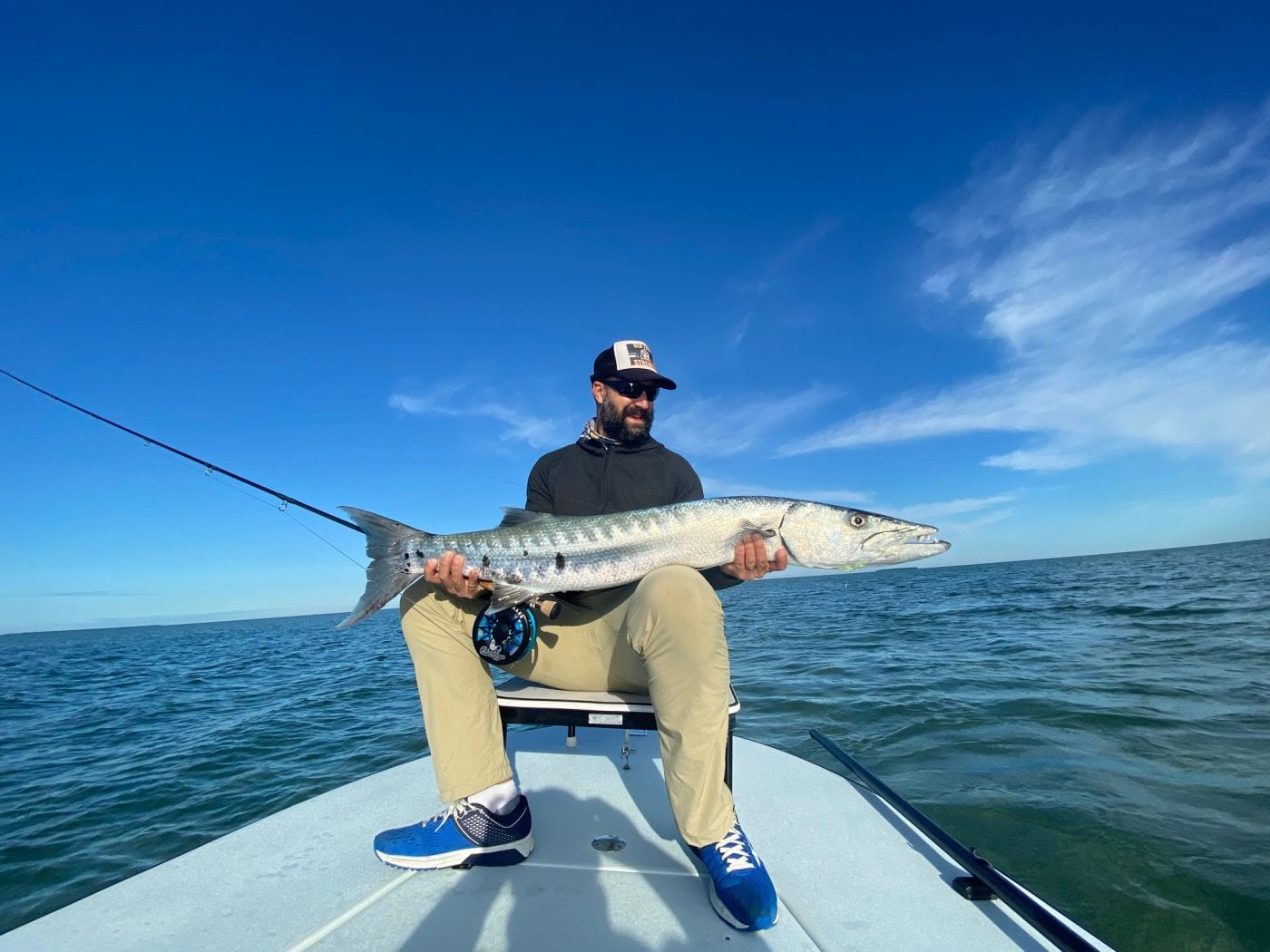 A personal best barracuda on fly: 25.5 pounds, 51 3/8 inches. Photo/guiding Ian Slater
