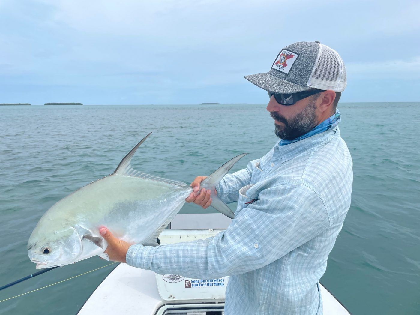 John O'Hearn guided a nice permit in the low light and high water. Photo/guiding John O'Hearn
