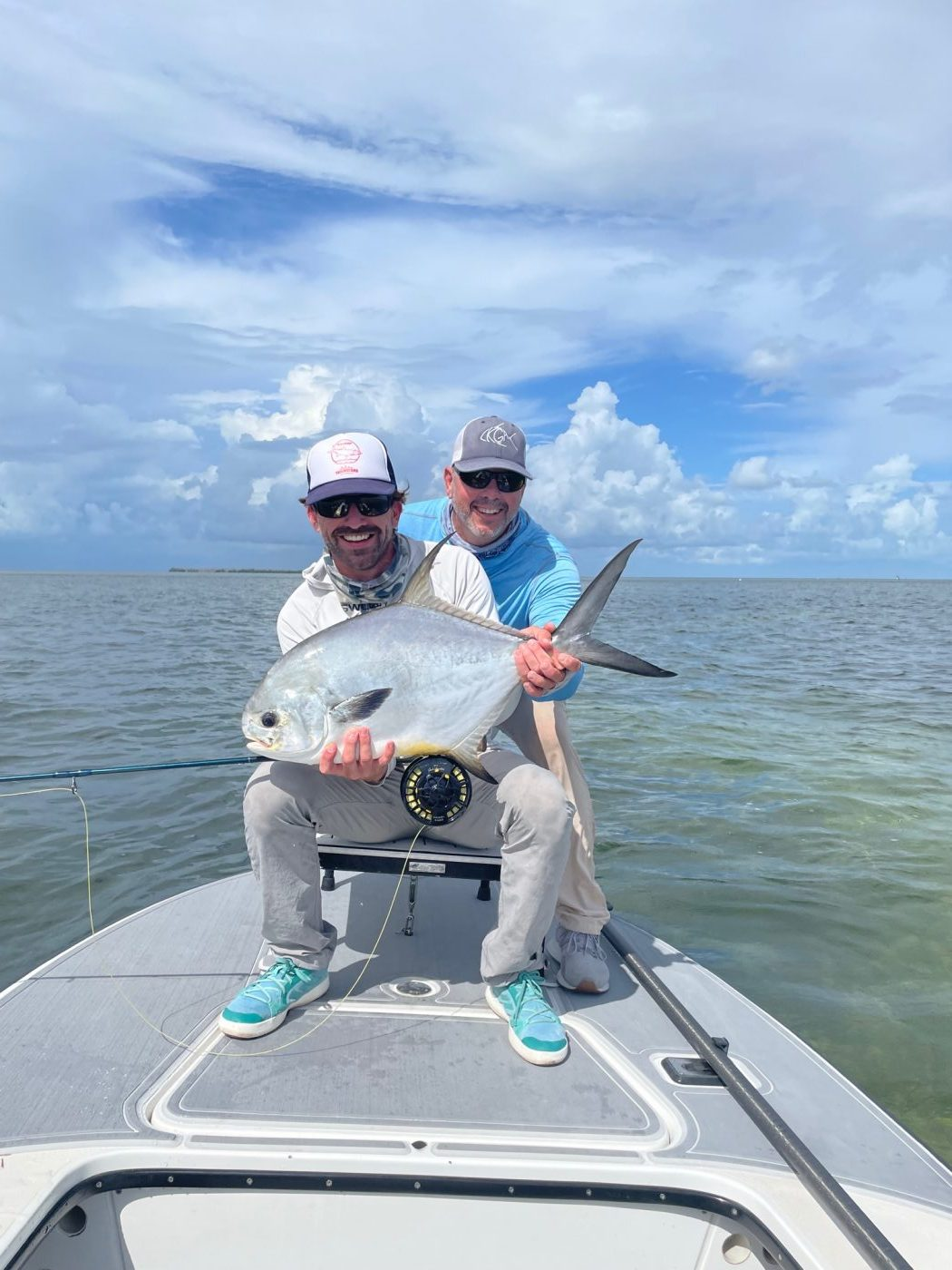 Wes and Scott with a great redemption capture after losing one. Photo Nathaniel Linville, guiding Scott Collins